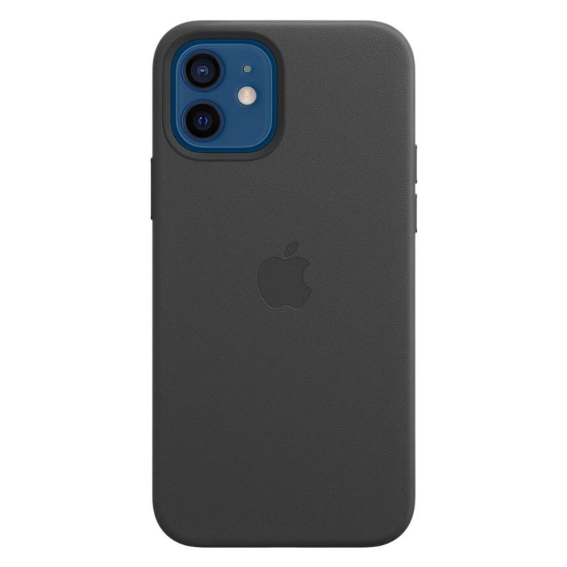 Кожаный чехол Leather MagSafe для iPhone 12/12 Pro 2020 Black