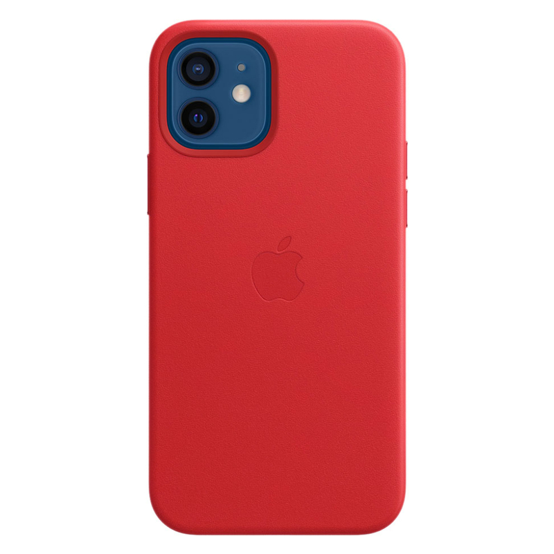 Кожаный чехол Leather MagSafe для iPhone 12/12 Pro 2020 (PRODUCT)RED