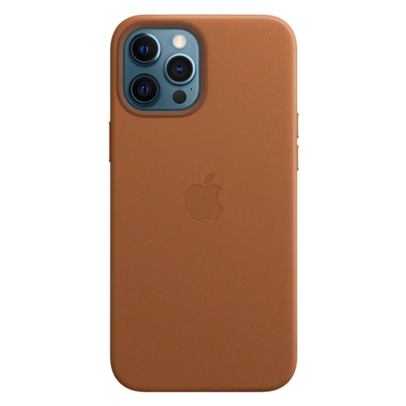 Кожаный чехол Apple MagSafe для iPhone 12 Pro Max 2020 Saddle Brown