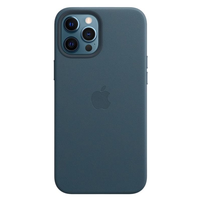 Кожаный чехол Apple MagSafe для iPhone 12 Pro Max 2020 Baltic Blue