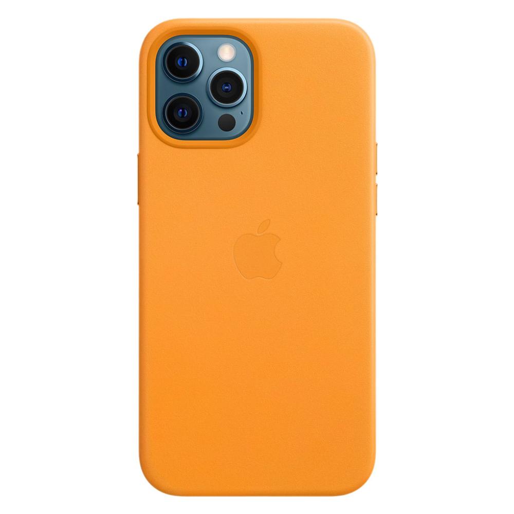 Кожаный чехол Apple MagSafe для iPhone 12 Pro Max 2020 California Poppy