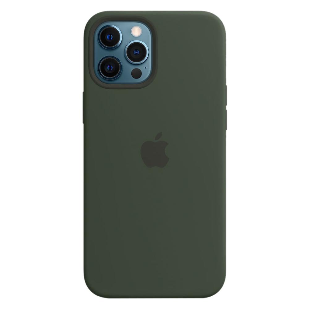 Силиконовый чехол Apple MagSafe для iPhone 12 Pro Max 2020 Cypriot Green