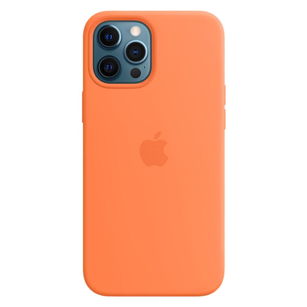 Силиконовый чехол Apple MagSafe для iPhone 12 Pro Max 2020 Kumquat