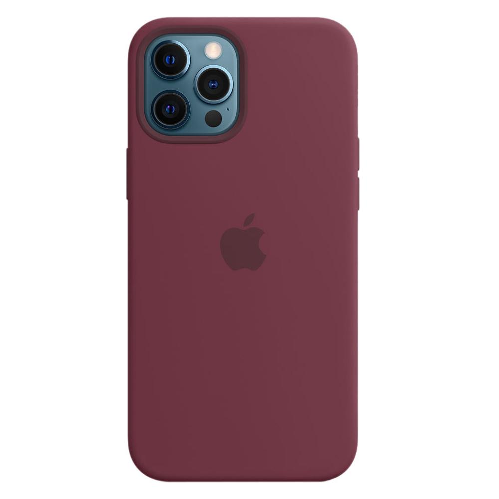 Силиконовый чехол Apple MagSafe для iPhone 12 Pro Max 2020 Plum