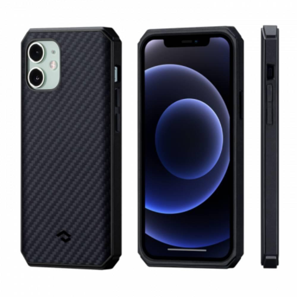 "Чехол Pitaka MagEZ Case Pro 2 для iPhone 12 mini 5.4"", черно-серый, кевлар (арамид)"