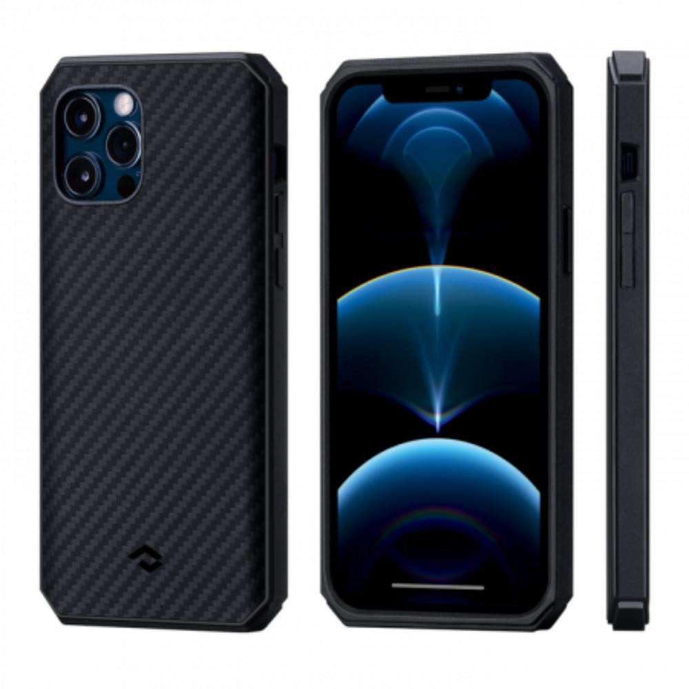 "Чехол Pitaka MagEZ Case Pro 2 для iPhone 12 Pro / 12 6.1"", черно-серый, кевлар (арамид)"