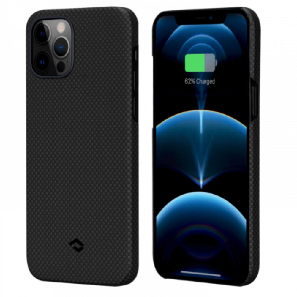 "Чехол Pitaka MagEZ Case для iPhone 12 Pro Max 6.7"", черно-серый (шахматное плетение), кевлар (арамид)"