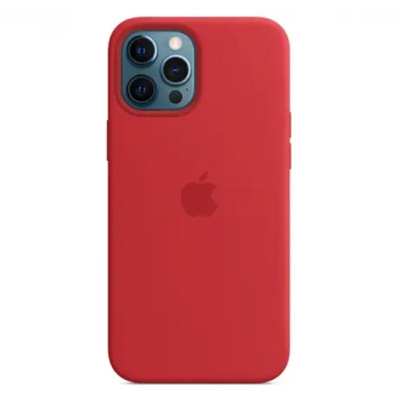 Чехол для iPhone 12 Pro Max Silicon Case Protect (Красный)