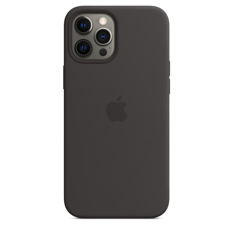 Чехол для iPhone 12 Pro Max Silicon Case Protect (Черный)