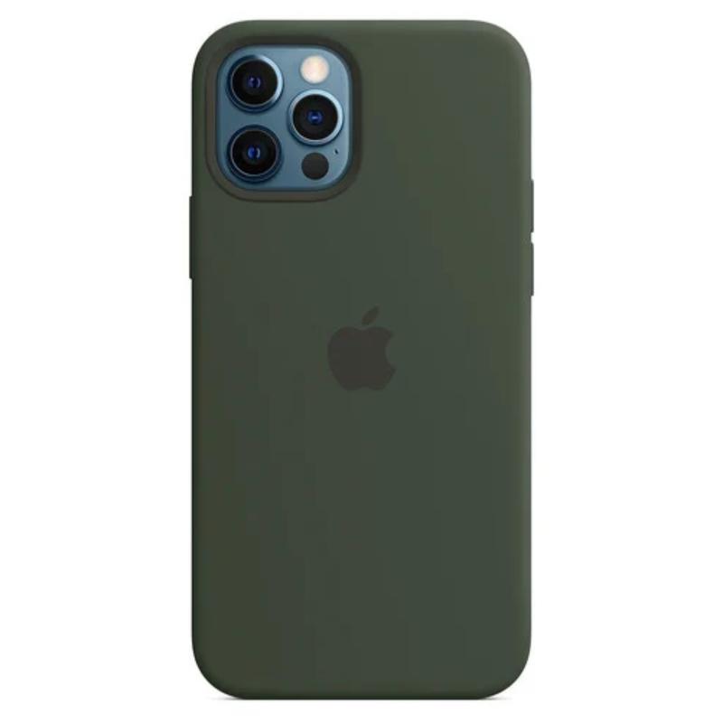 Чехол для iPhone 12 Pro Max Silicon Case Protect (Кипрский зеленый)