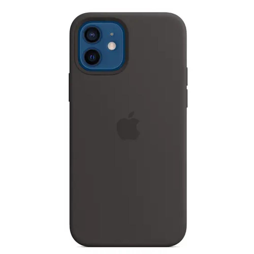 Чехол для iPhone 12/12 Pro Silicon Case Protect (Черный)