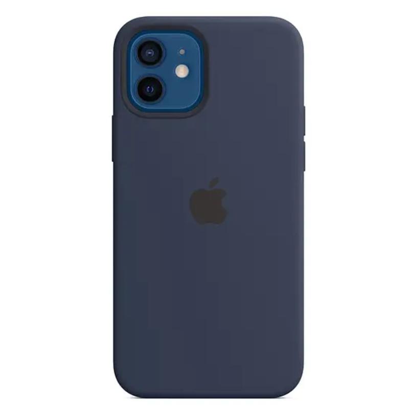 Чехол для iPhone 12/12 Pro Silicon Case Protect (Темный ультрамарин)