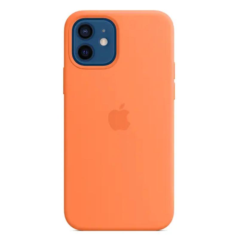 Чехол для iPhone 12/12 Pro Silicon Case Protect (Кумкват)
