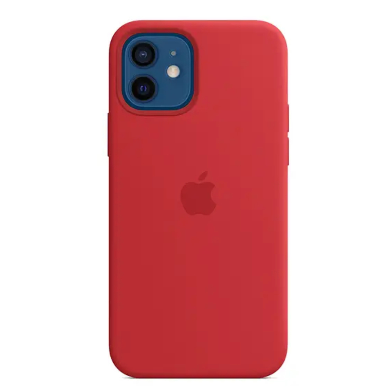 Чехол для iPhone 12/12 Pro Silicon Case Protect (Красный)