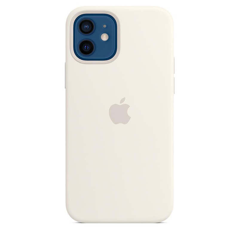 Чехол для iPhone 12/12 Pro Silicon Case Protect (Белый)