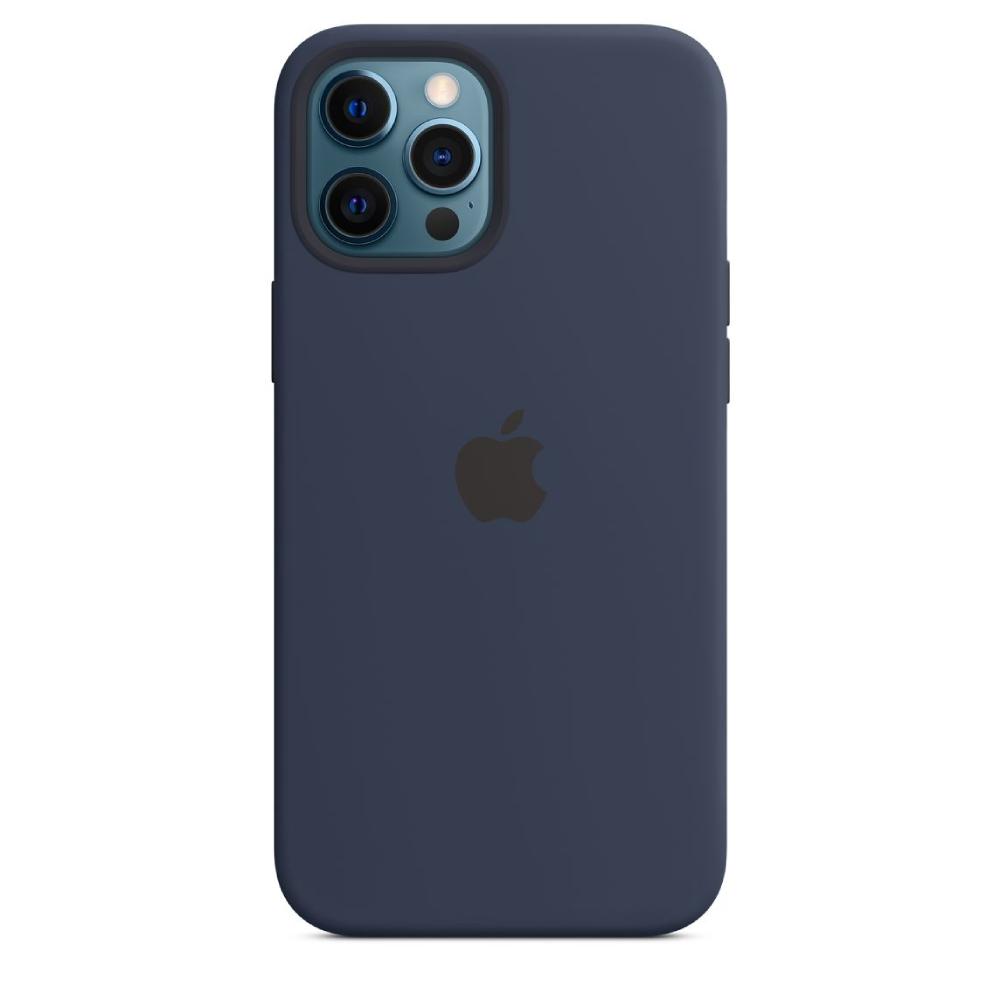 Чехол для iPhone 12 Pro Max Silicon Case Protect (Темный ультрамарин)