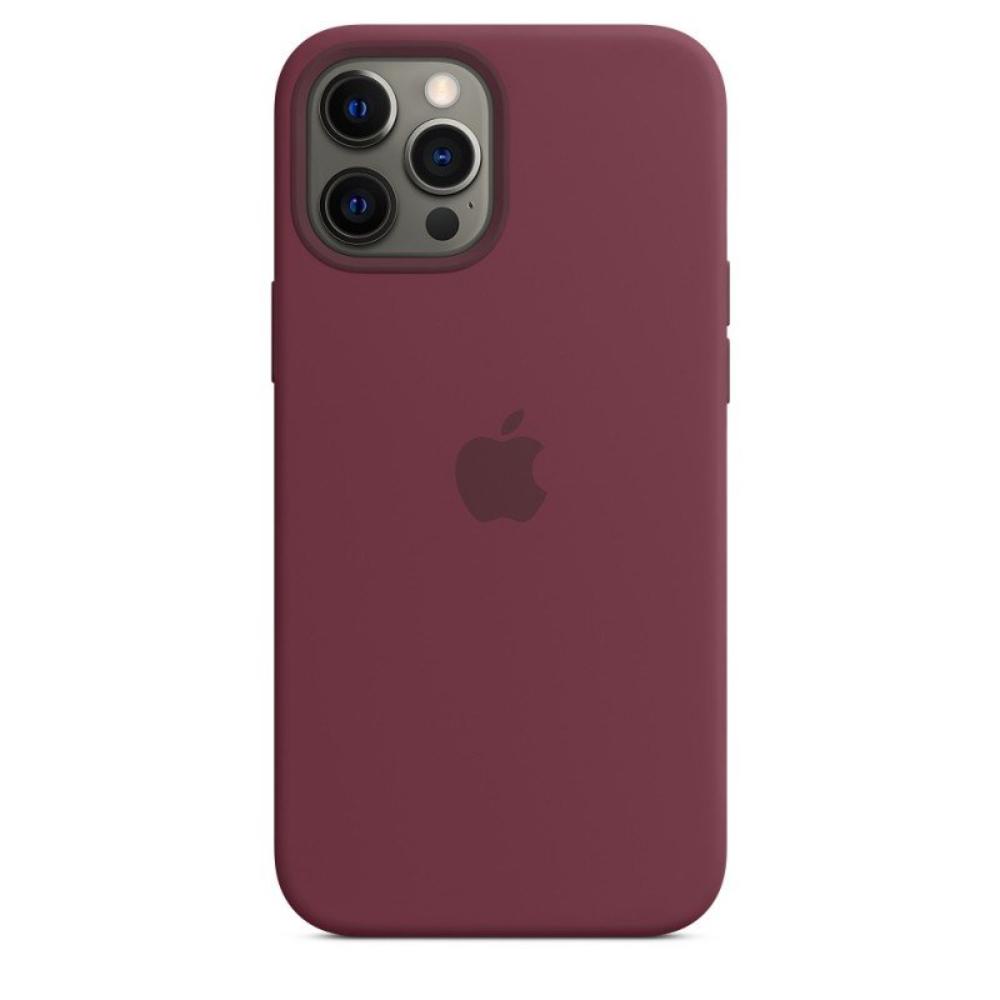 Чехол для iPhone 12 Pro Max Silicon Case Protect (Сливовый)