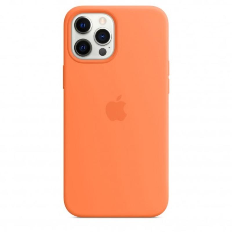 Чехол для iPhone 12 Pro Max Silicon Case Protect (Кумкват)