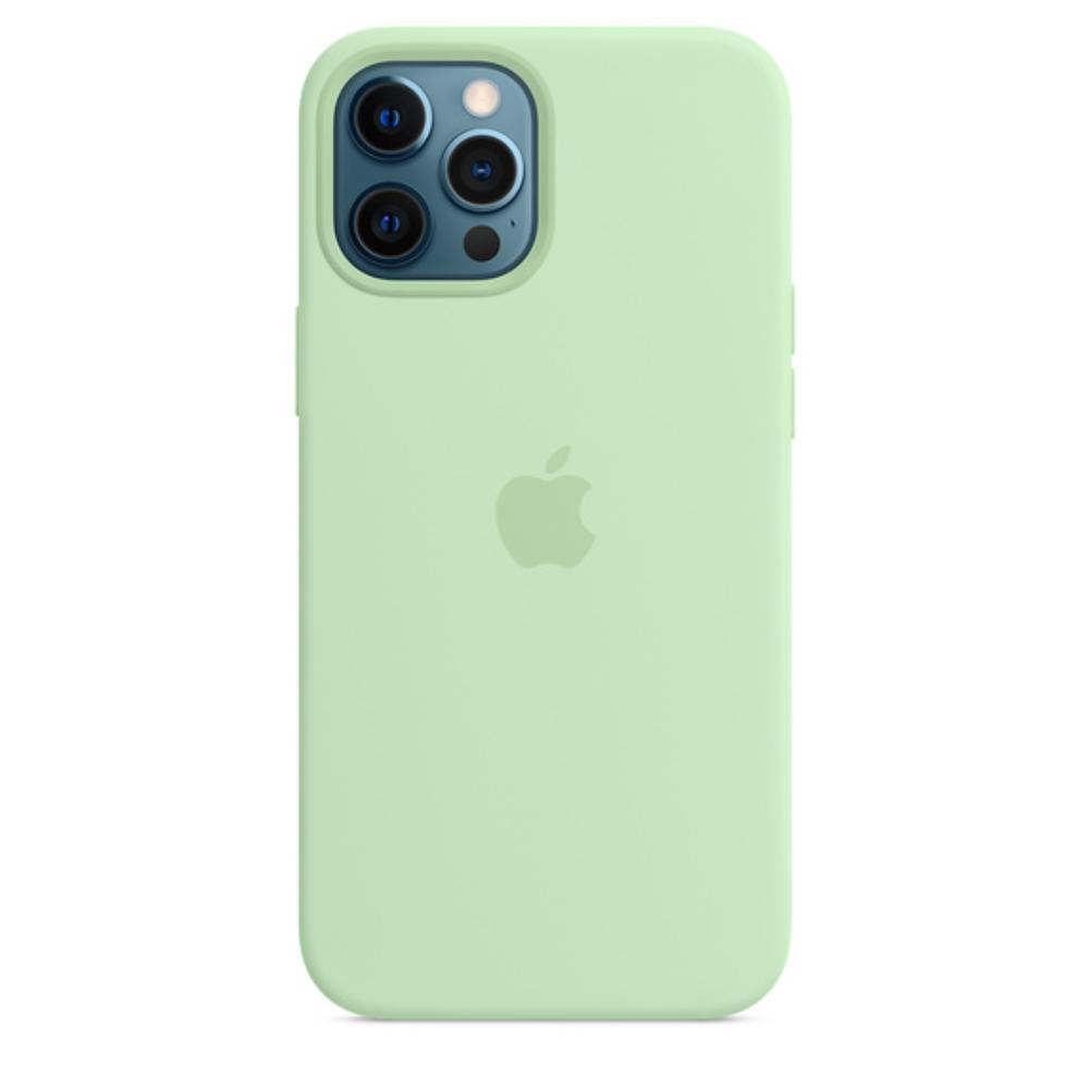 Чехол для iPhone 12 Pro Max MagSafe Silicon Case Protect (Фисташковый)