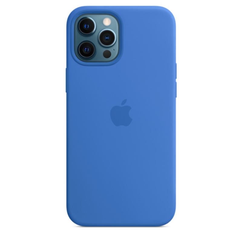 Чехол для iPhone 12 Pro Max MagSafe Silicon Case Protect (Капри)