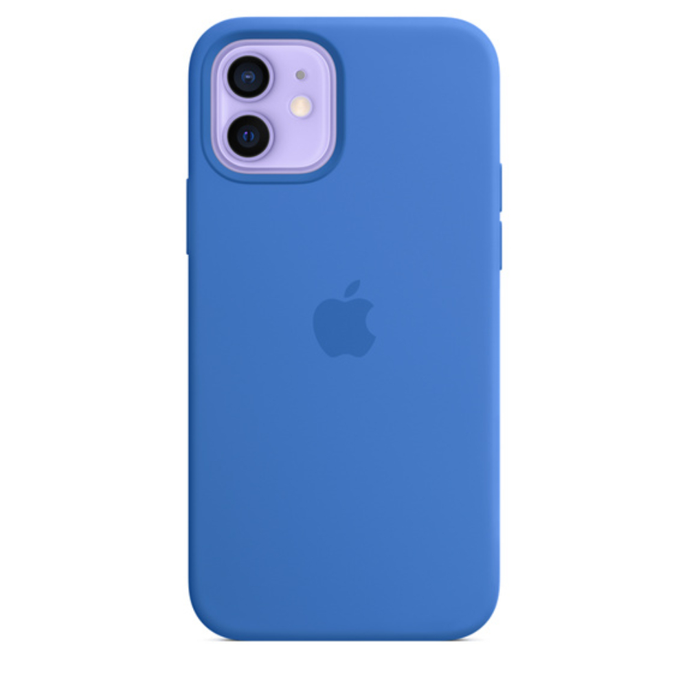 Чехол для iPhone 12/12 Pro MagSafe Silicon Case Protect (Капри)