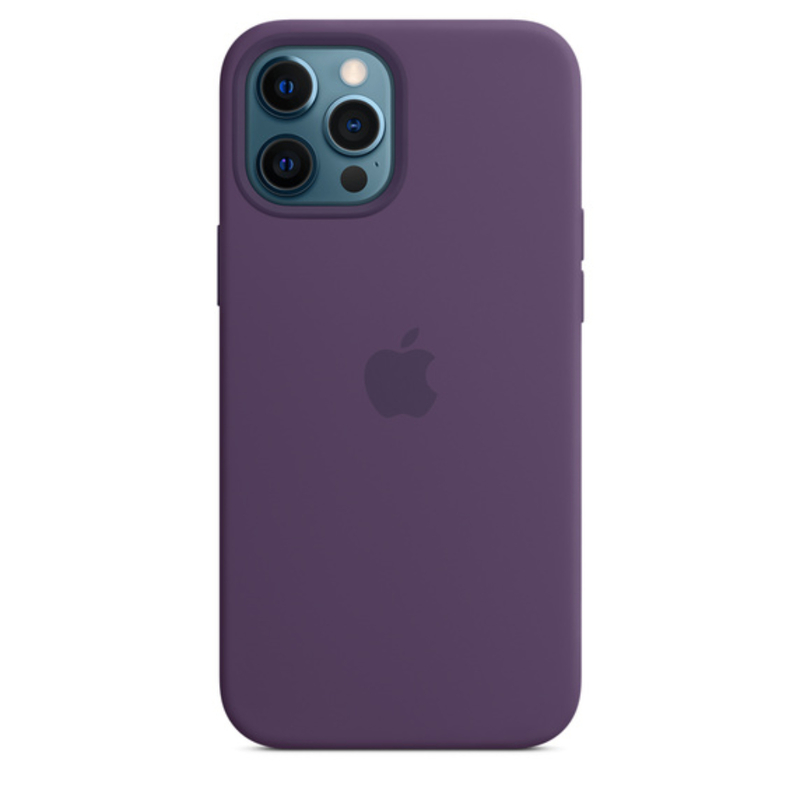 Чехол для iPhone 12 Pro Max MagSafe Silicon Case Protect (Аметист)