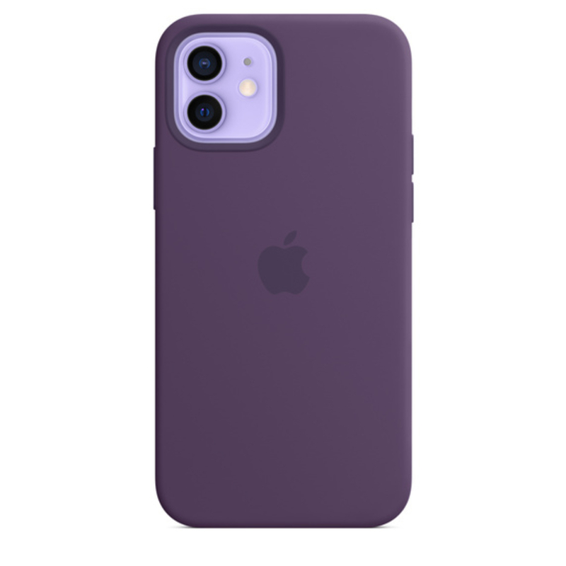 Чехол для iPhone 12/12 Pro MagSafe Silicon Case Protect (Аметист)
