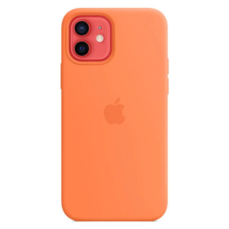 Чехол для iPhone 12/12 Pro MagSafe Silicon Case Protect (Кумкват)