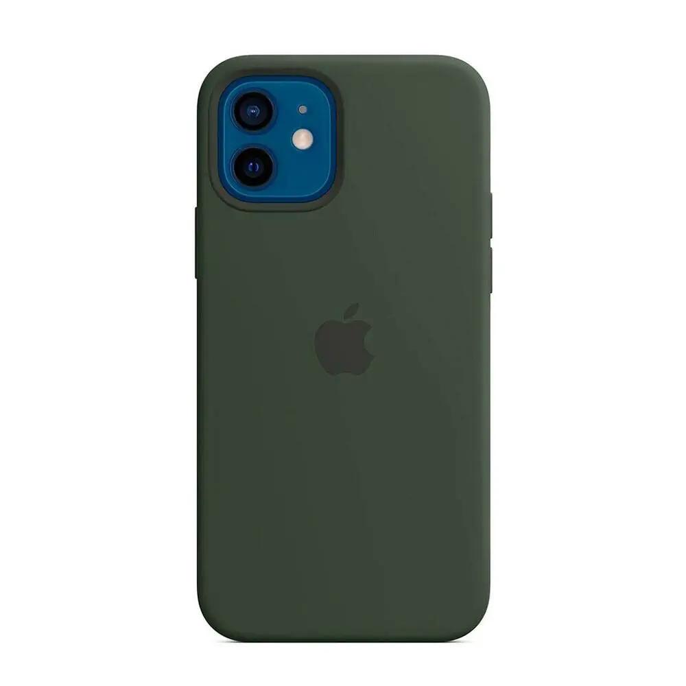 Чехол для iPhone 12/12 Pro MagSafe Silicon Case Protect (Кипрский зеленый)