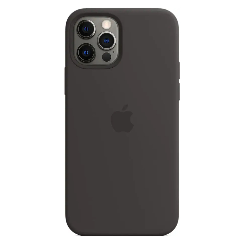 Чехол для iPhone 12 Pro Max MagSafe Silicon Case Protect (Черный)