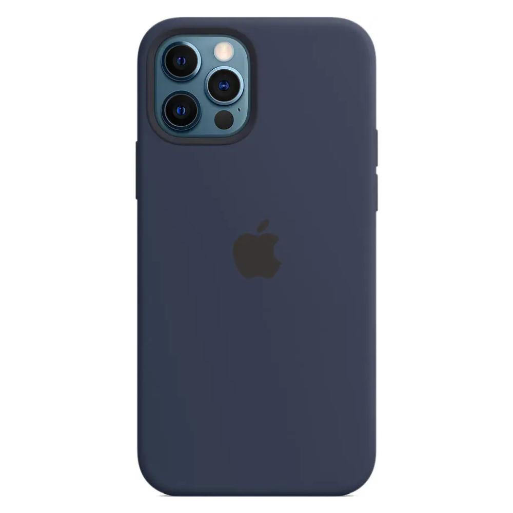 Чехол для iPhone 12 Pro Max MagSafe Silicon Case Protect (Темный ультрамарин)