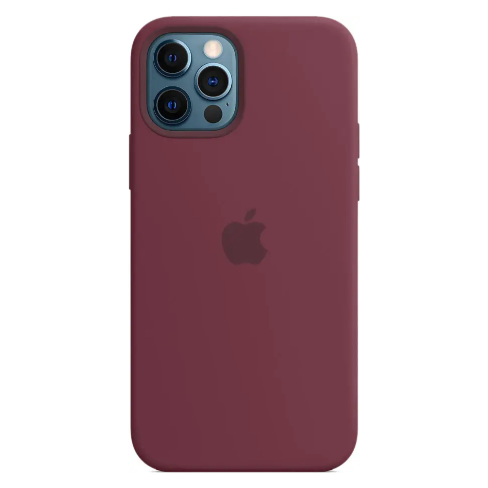 Чехол для iPhone 12 Pro Max MagSafe Silicon Case Protect (Сливовый)