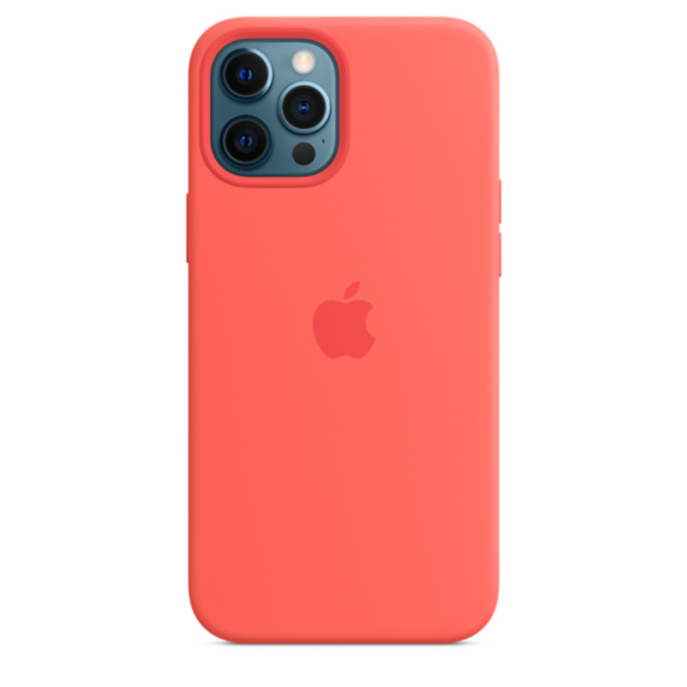 Чехол для iPhone 12 Pro Max MagSafe Silicon Case Protect (Розовый цитрус)