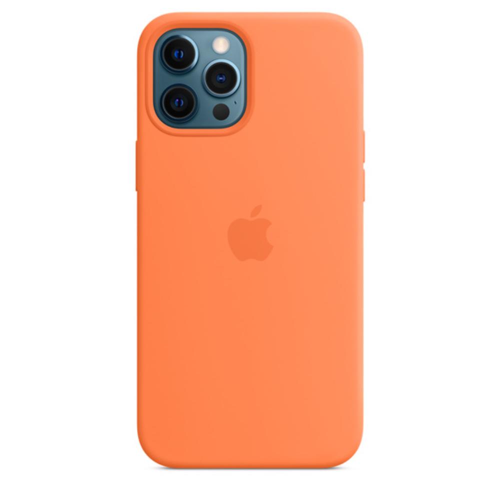 Чехол для iPhone 12 Pro Max MagSafe Silicon Case Protect (Кумкват)