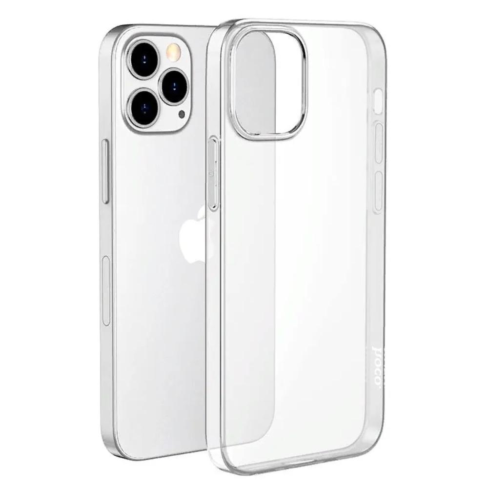 Силиконовый чехол-накладка Hoco для iPhone 13 Pro Max прозрачный