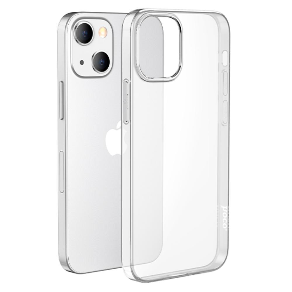 Силиконовый чехол-накладка Hoco для iPhone 13 прозрачный