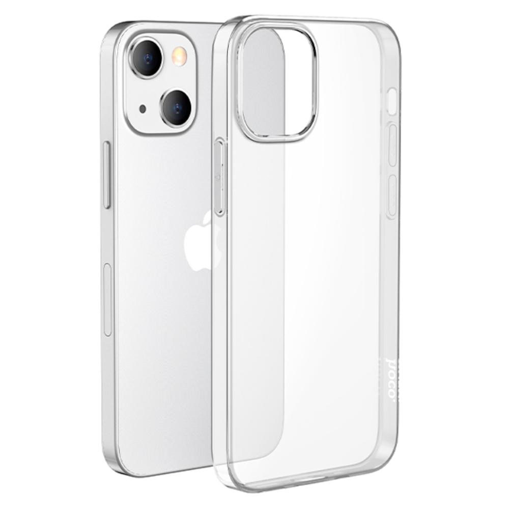 Силиконовый чехол-накладка Hoco для iPhone 13 Mini прозрачный