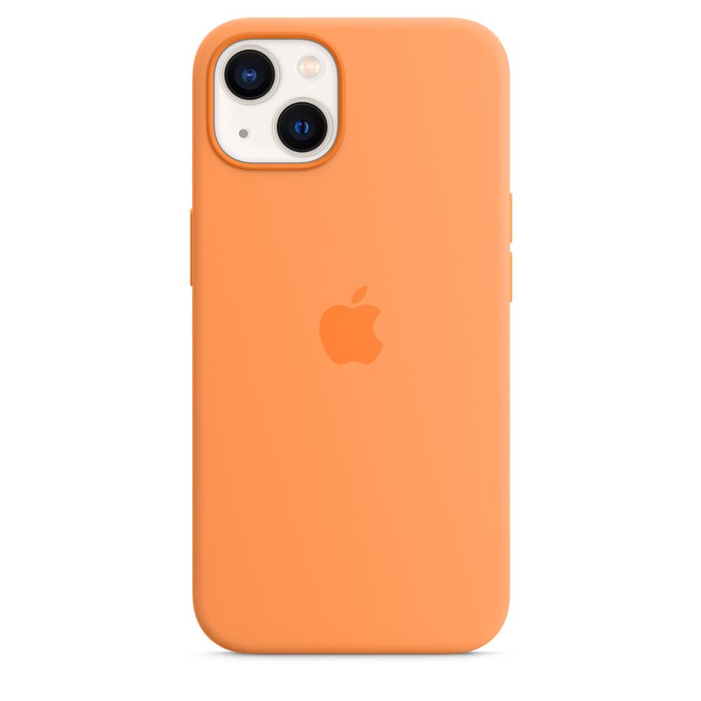 Силиконовый чехол MagSafe для iPhone 13, цвет «весенняя мимоза»