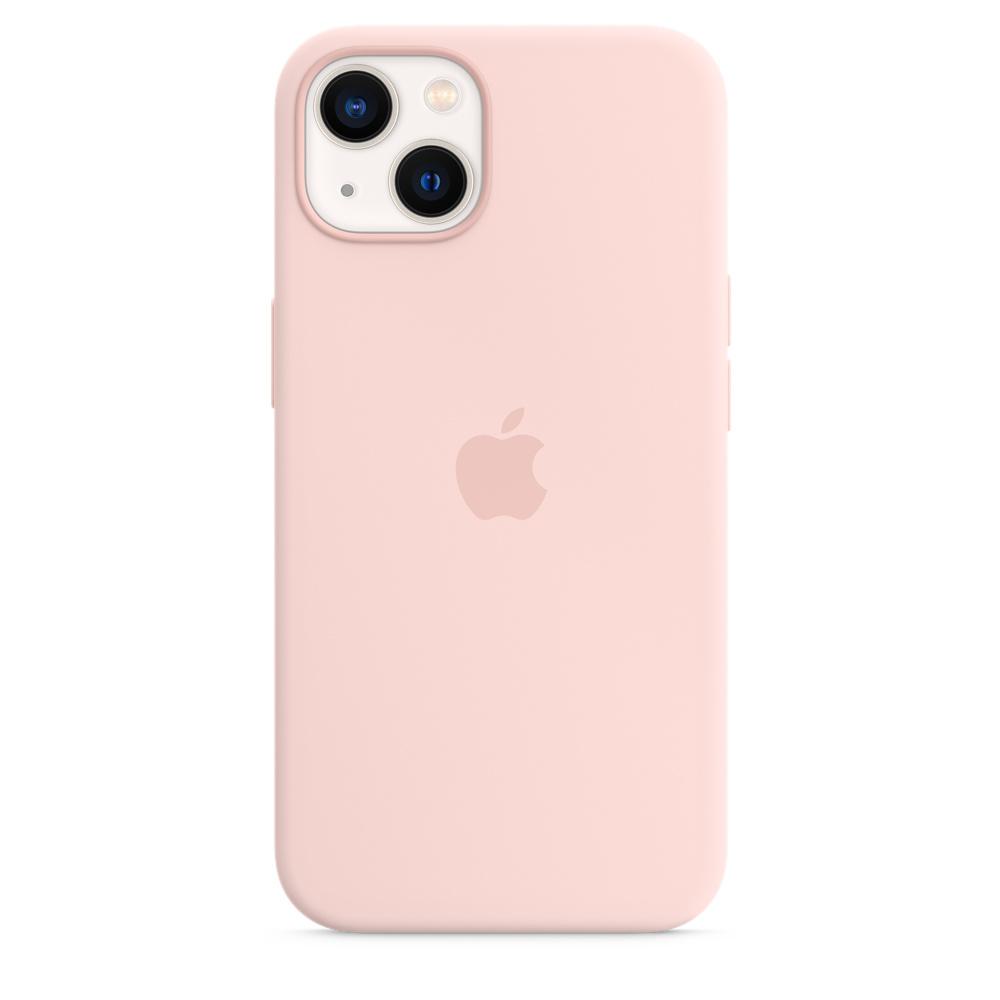 Силиконовый чехол MagSafe для iPhone 13, цвет «розовый мел»