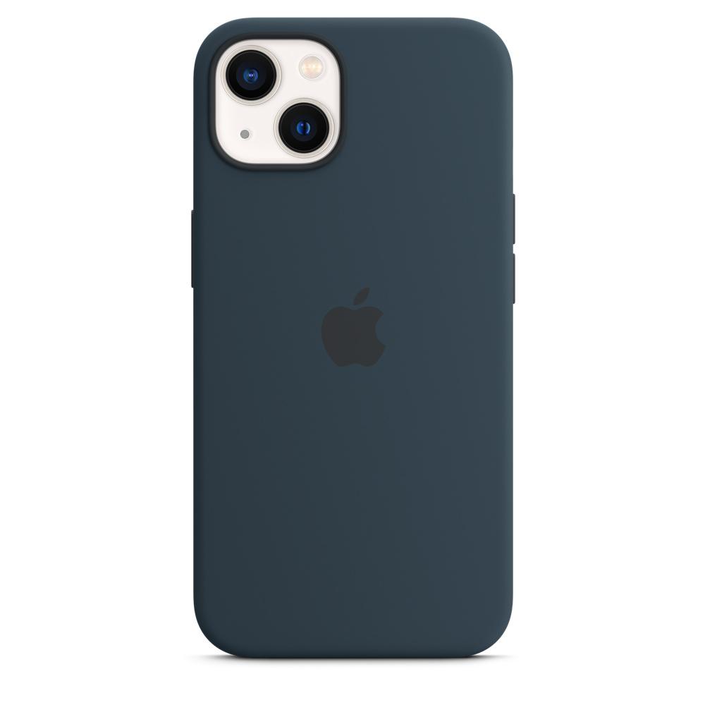 Силиконовый чехол MagSafe для iPhone 13, цвет «синий омут»