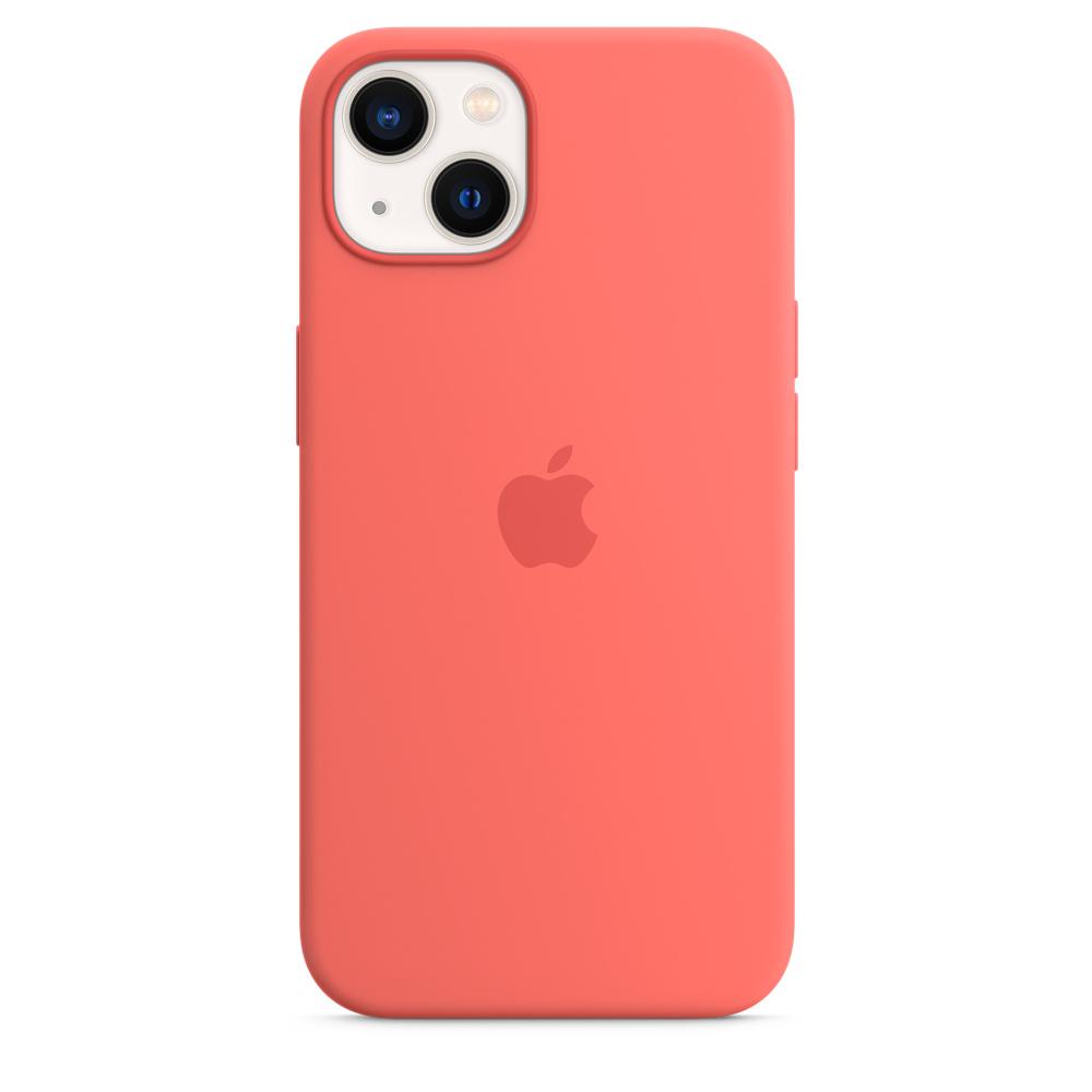 Силиконовый чехол MagSafe для iPhone 13, цвет «розовый помело»