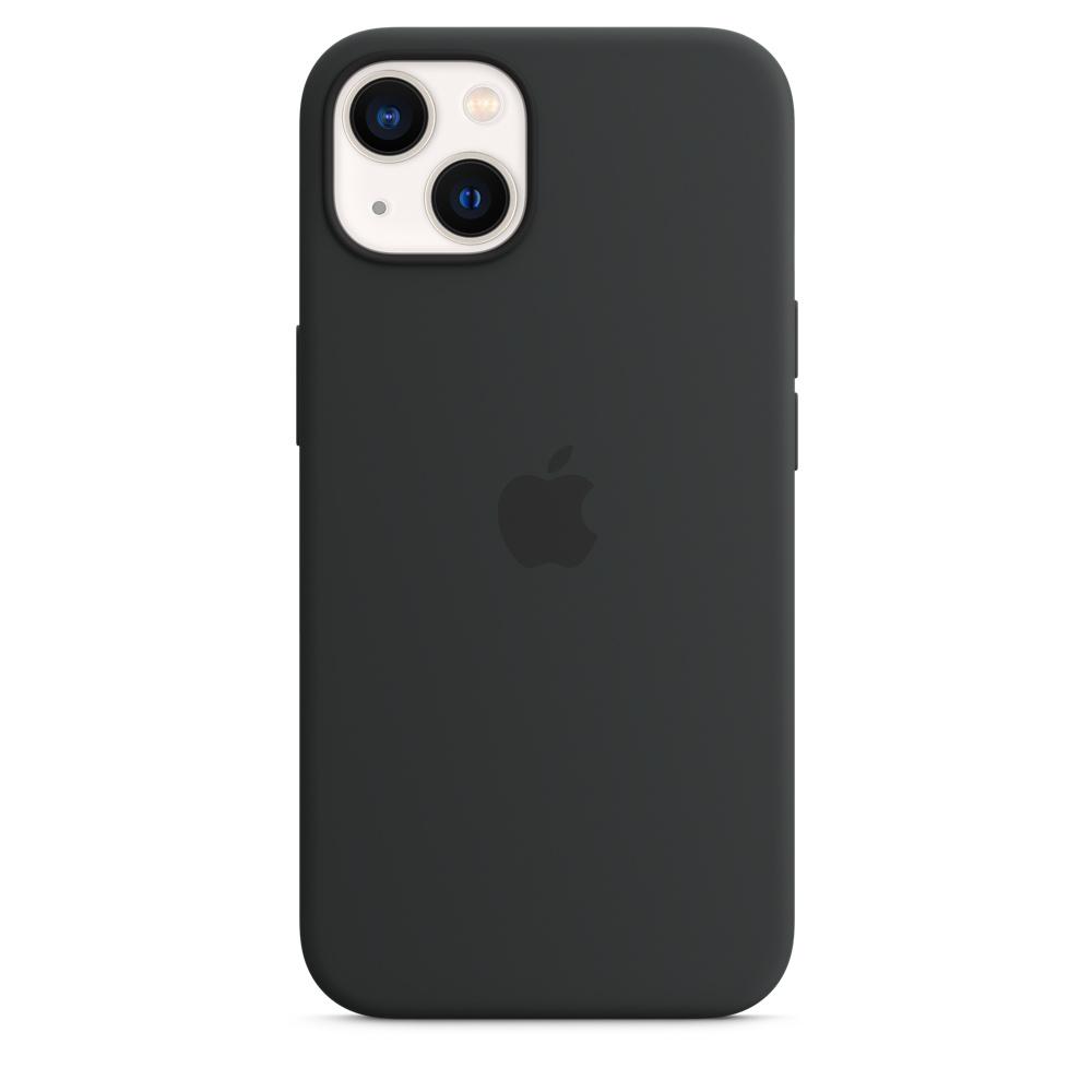Силиконовый чехол MagSafe для iPhone 13, цвет «тёмная ночь»