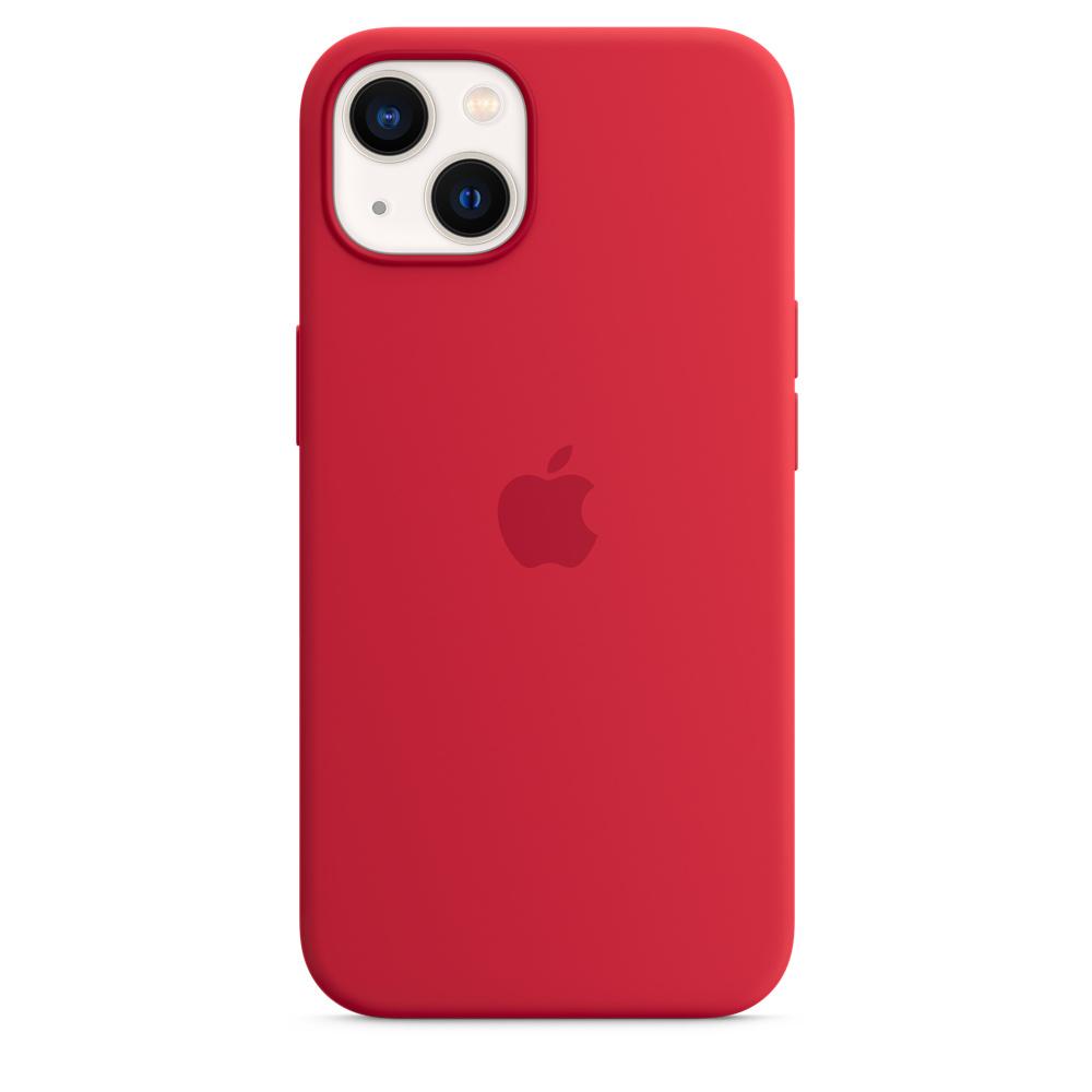 Силиконовый чехол MagSafe для iPhone 13, цвет (PRODUCT)RED