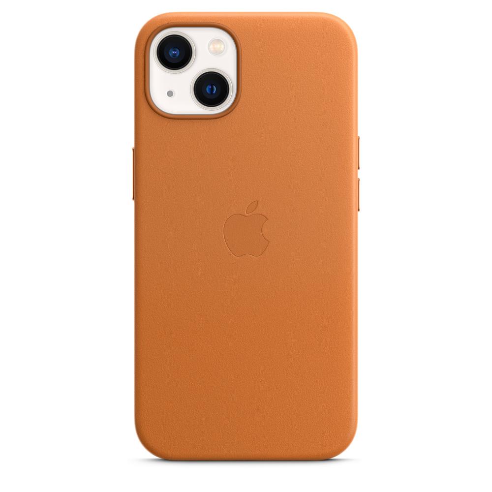 Кожаный чехол MagSafe для iPhone 13, цвет «золотистая охра»