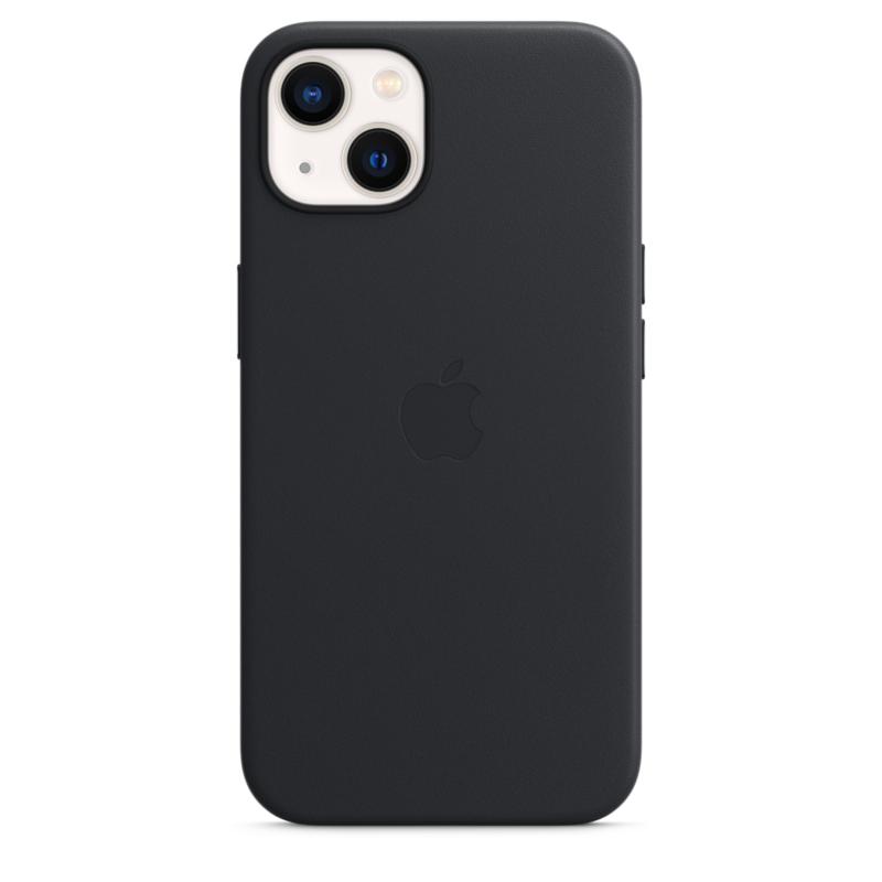 Кожаный чехол MagSafe для iPhone 13, цвет «тёмная ночь»