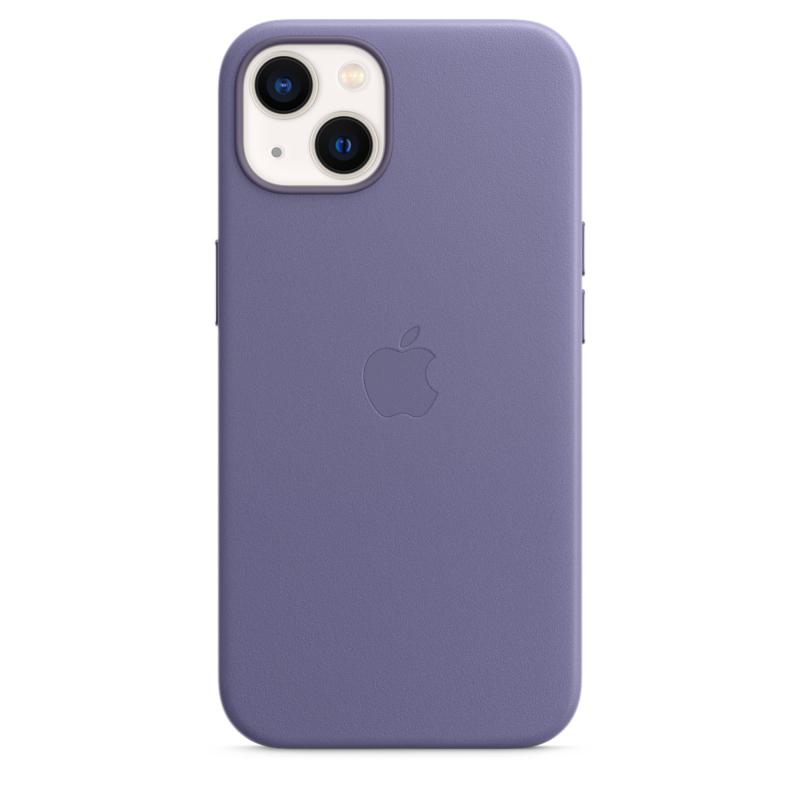 Кожаный чехол MagSafe для iPhone 13, цвет «сиреневая глициния»
