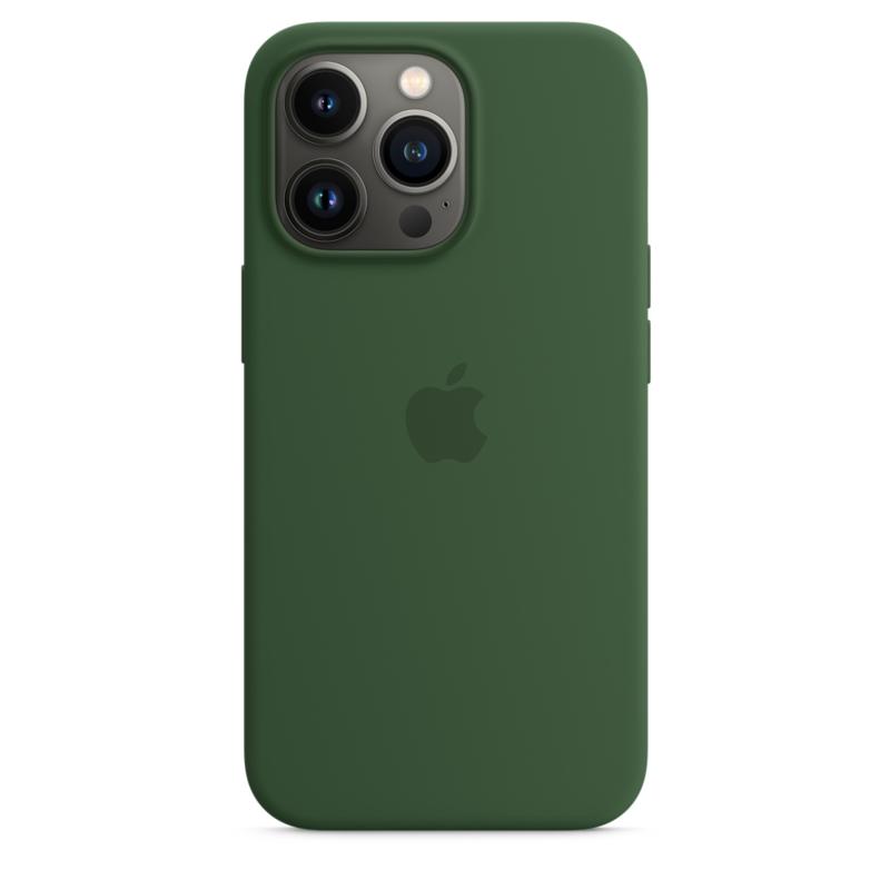 Силиконовый чехол MagSafe для iPhone 13 Pro, цвет «зелёный клевер»