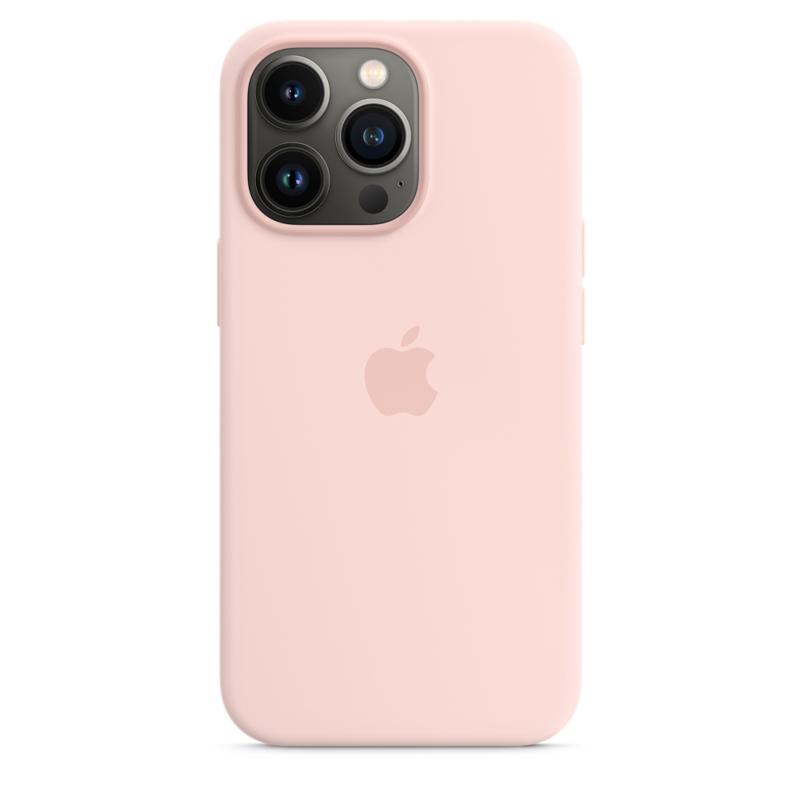 Силиконовый чехол MagSafe для iPhone 13 Pro, цвет «розовый мел»