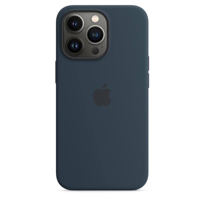 Силиконовый чехол MagSafe для iPhone 13 Pro, цвет «синий омут»
