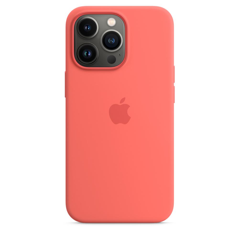 Силиконовый чехол MagSafe для iPhone 13 Pro, цвет «розовый помело»